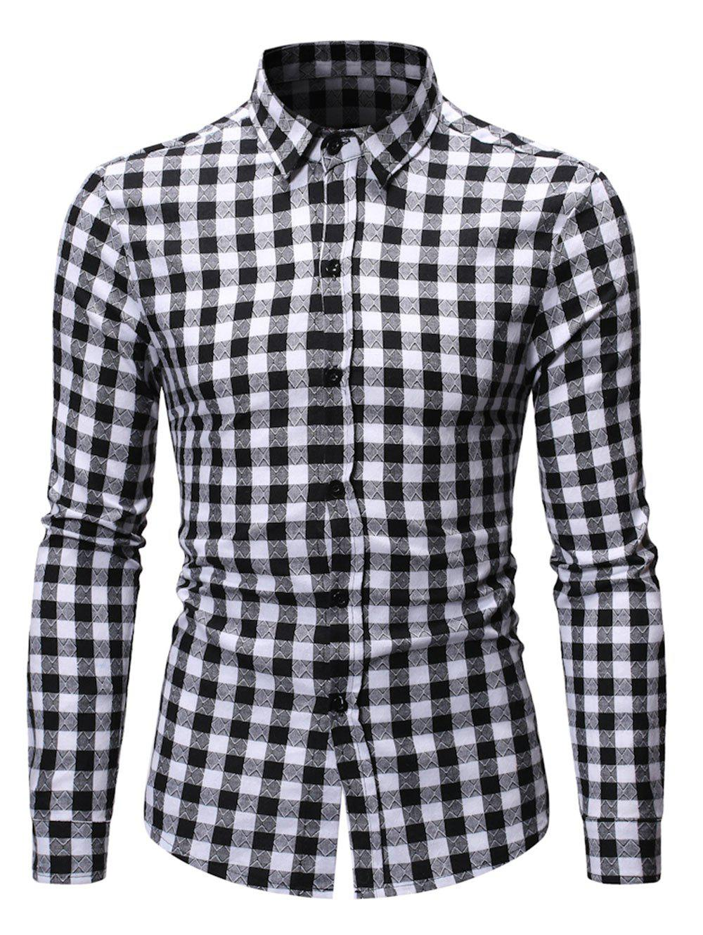 New Button Up Plaid Printed Casual Shirt