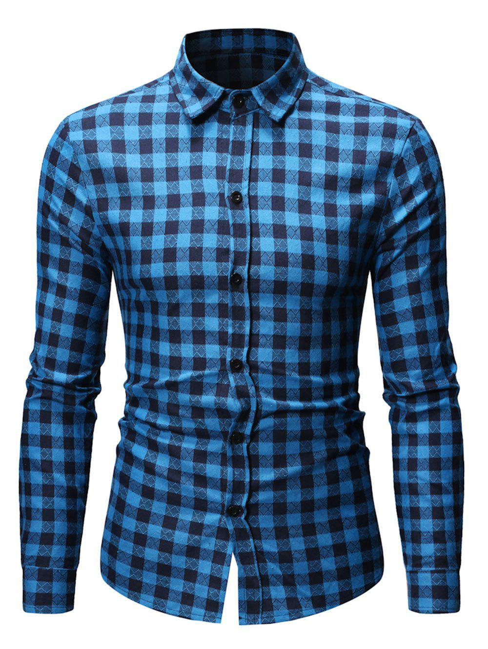 Sale Button Up Plaid Printed Casual Shirt