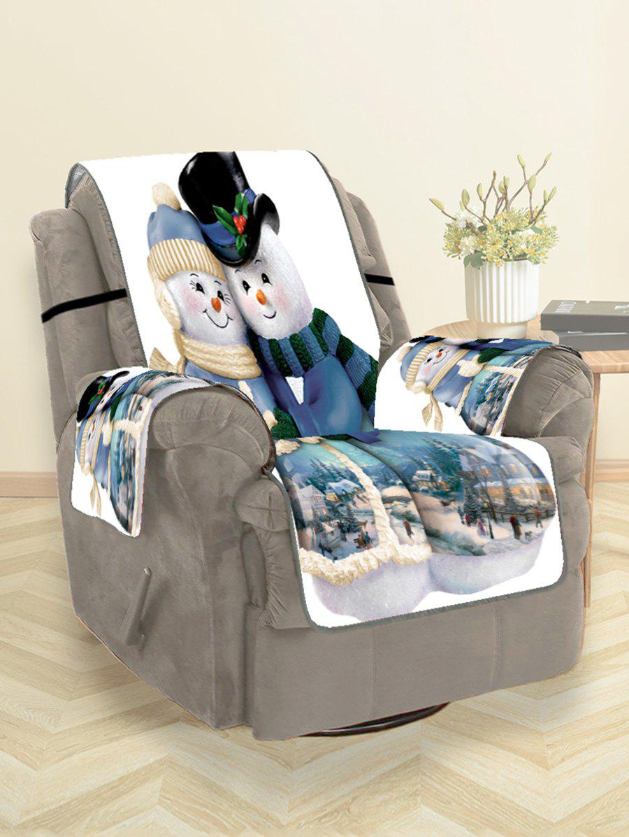 Outfits Christmas Snowman Couple Print Couch Cover
