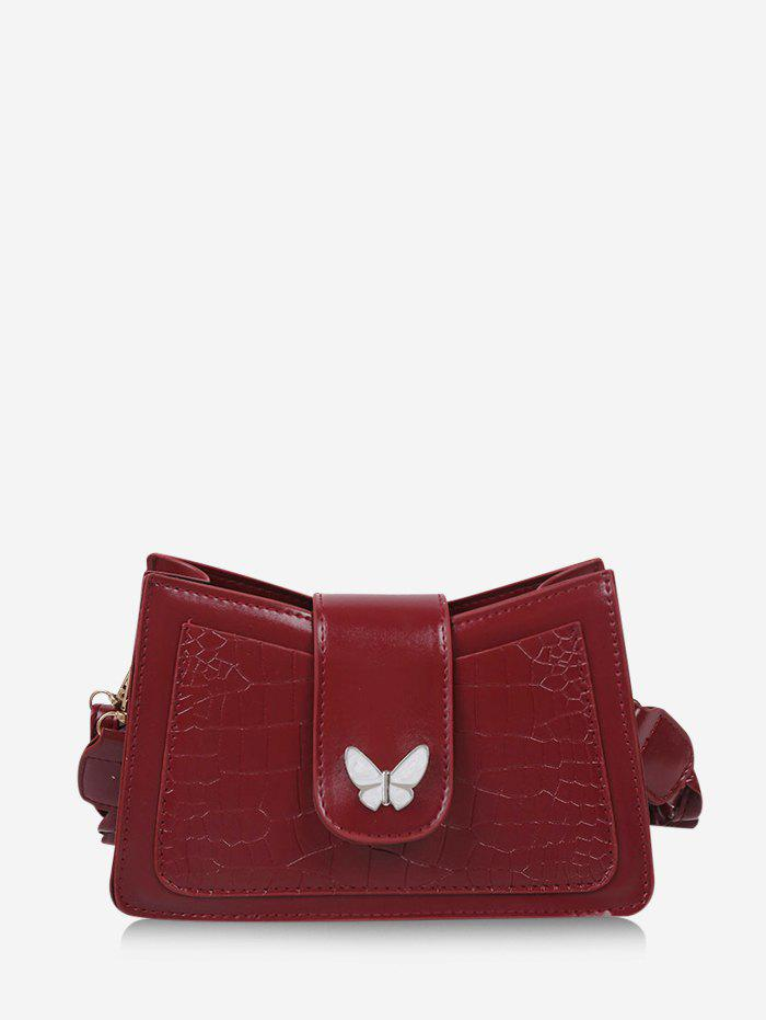 Shops Solid Textured Butterfly Pattern Crossbody Bag