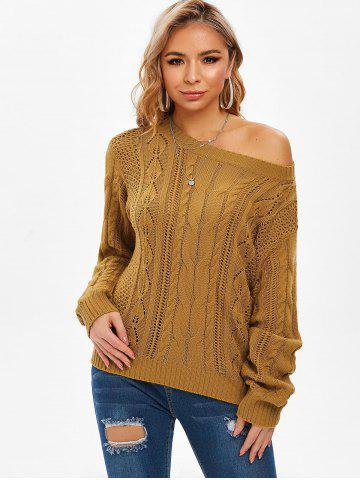 Cable Knit Open Knit Jumper Sweater