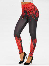 Christmas Elk Print Skinny Leggings -
