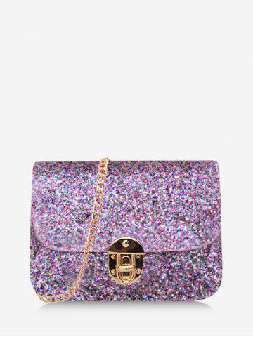 Chains Sequined Cover Crossbody Bag