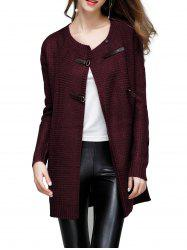 Buckled Detail Sweater Coat -