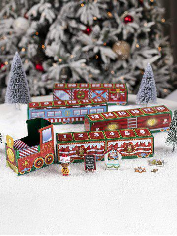 Christmas 24 Days Count Down Paper Train Toy - MULTI