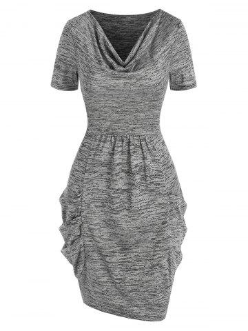 Cowl Neck Space Dye Dress