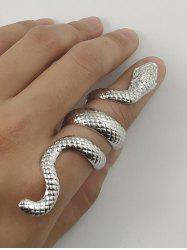 Carved Snake Alloy Wrap Ring -