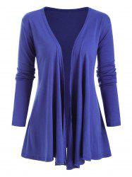 Open Front Jersey Draped Front Jacket -