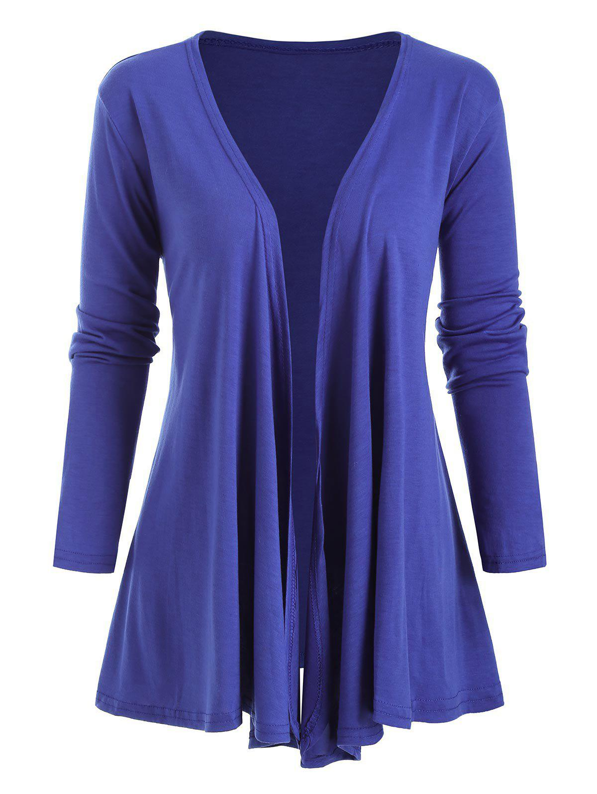 Hot Open Front Jersey Draped Front Jacket