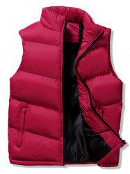 Winter Solid Casual Puffer Waistcoat -