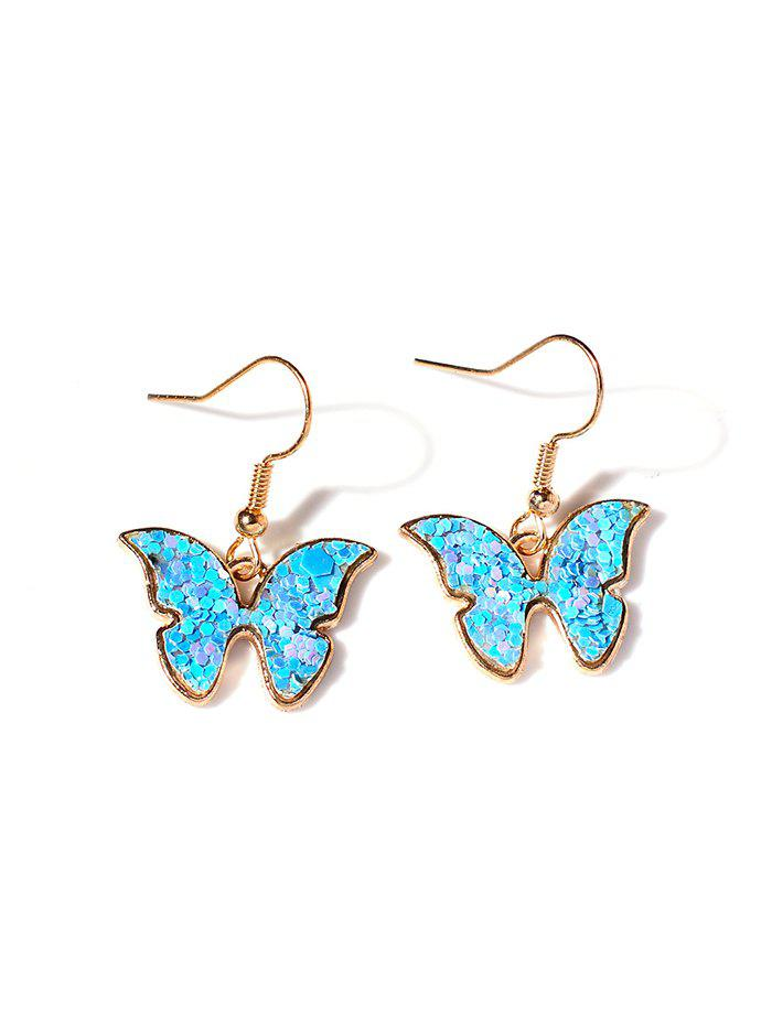 Cheap Butterfly Sequins Alloy Drop Earrings