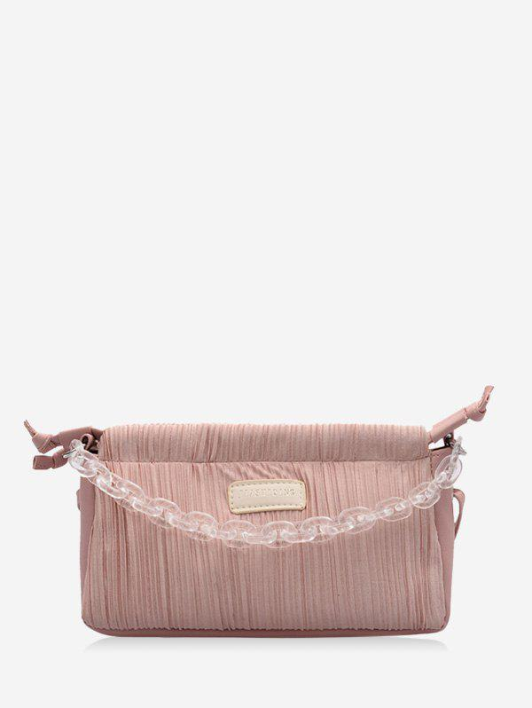 Online Chain Pleated Rectangle Shoulder Bag