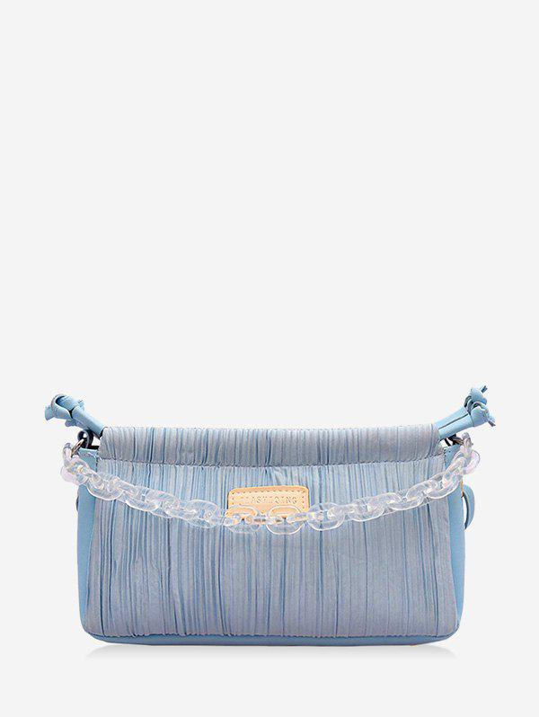 Discount Chain Pleated Rectangle Shoulder Bag