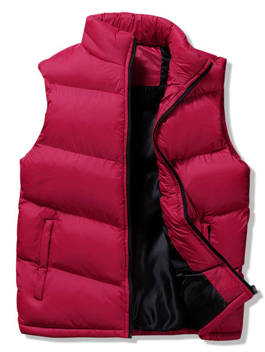 Unique Winter Solid Casual Puffer Waistcoat