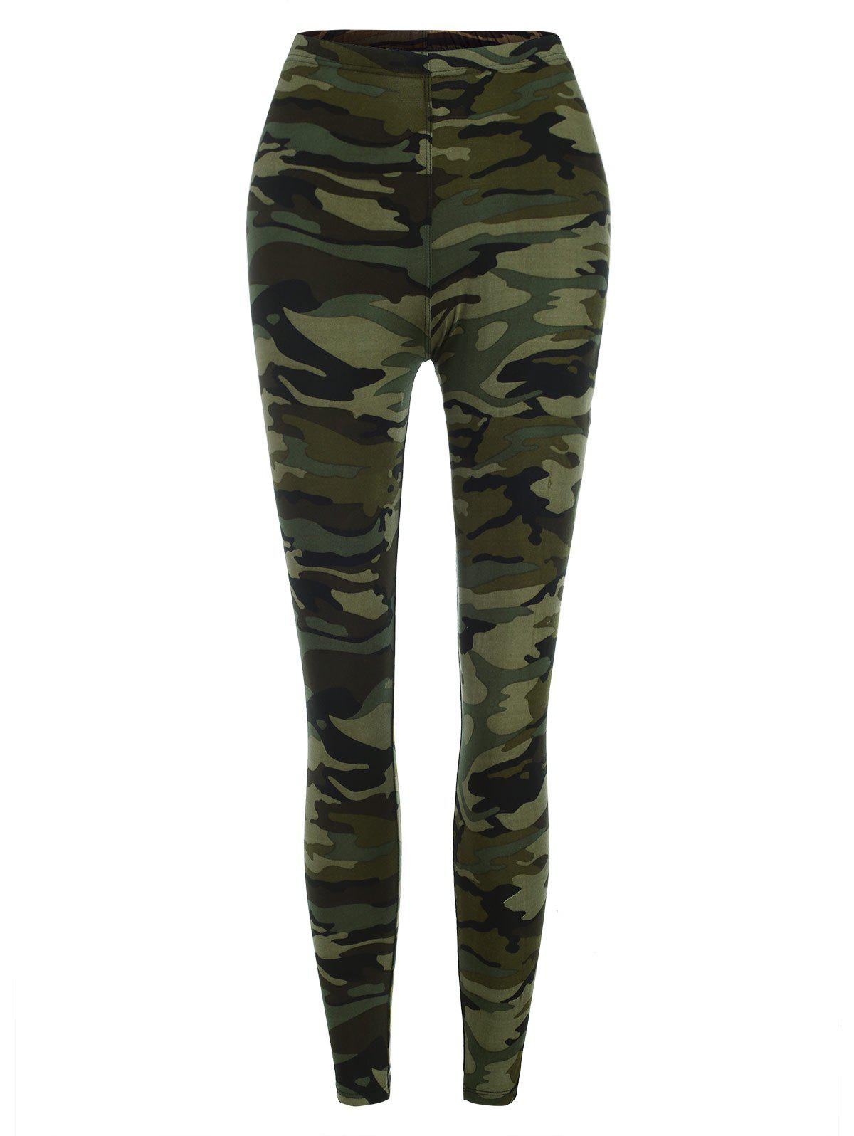 Affordable Camouflage Ninth Leggings