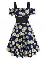 Off The Shoulder Daisy Print Dress and Top Twinset -