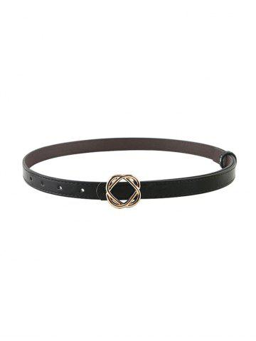 Flower Buckle PU Belt