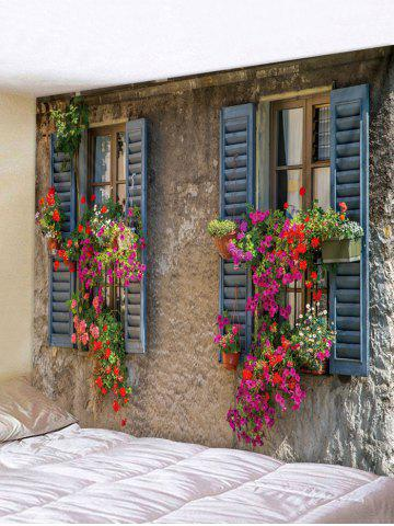 Window Flower Wall Print Hanging Tapestry