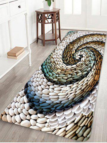 Spiral Pebble Stone Print Fleece Floor Mat