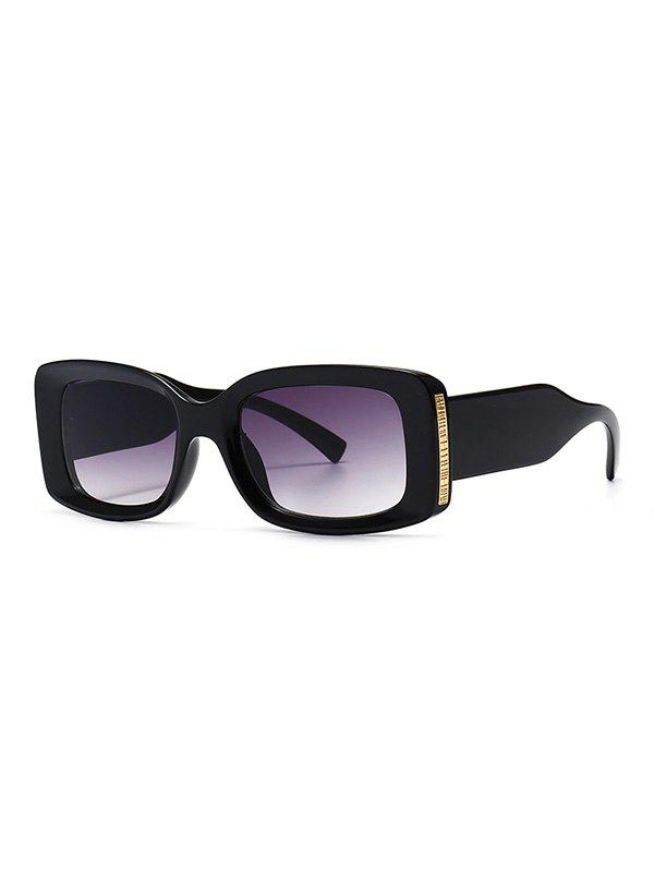Chic Full Frame Metal Embellished Ombre Sunglasses