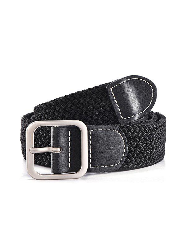 Chic Casual Square Pin Buckle Woven Belt
