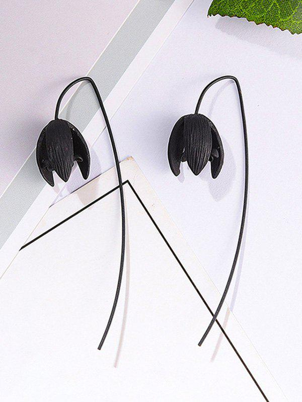 Discount Gothic Carved Flower Shape Earrings