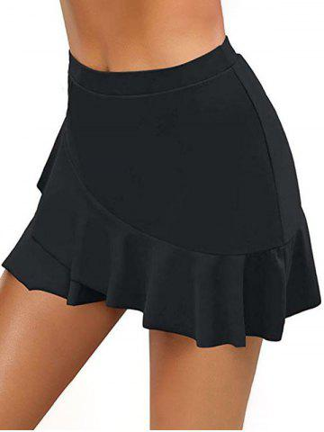 Flounce Hem Skirted Bikini Bottom