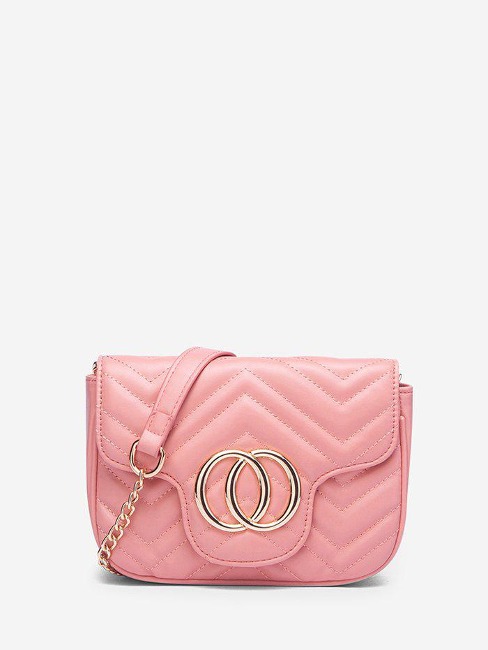 Fashion Circle Heart Pattern Quilted Crossbody Bag