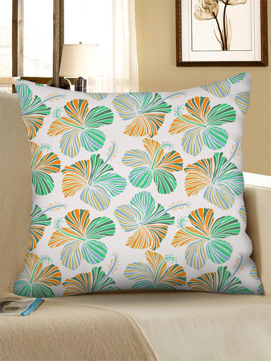 Outfit Floral Pattern Linen Square Pillowcase