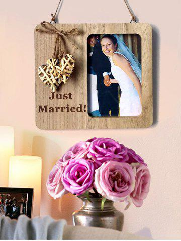 Wooden Country Wedding Woven Heart Photo Frame