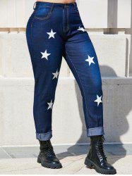 Mid Rise Star Plus Size Skinny Jeans -