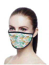Floral Printed Air Layer Fabric Face Mask -