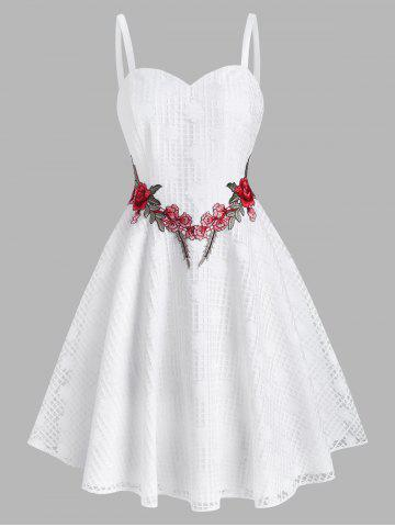 Lace Flower Applique Party A Line Dress