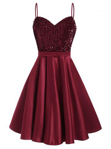 Glitter Sequined A Line Party Dress