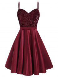 Glitter Sequined A Line Party Dress -