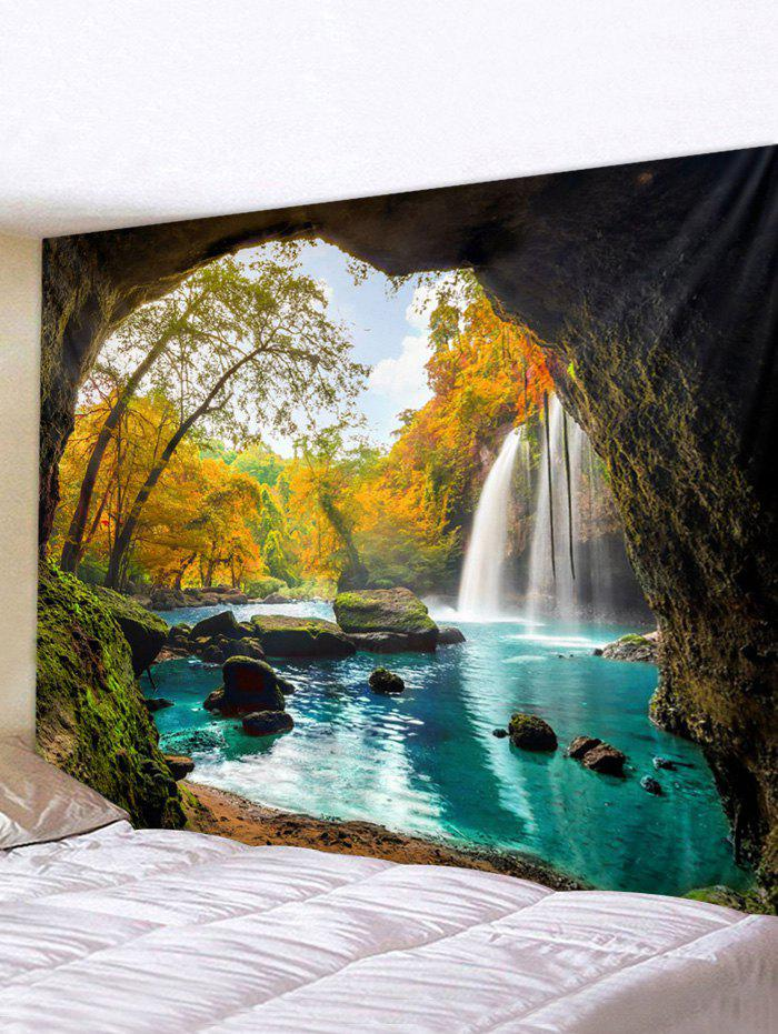 Outfits Cave Landscape Printed Waterproof Wall Tapestry