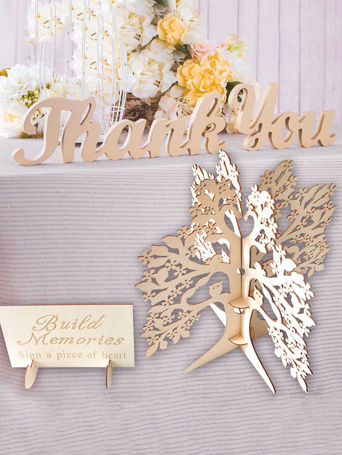 Cheap Wedding Wooden Wishing Tree Guest Book Decoration