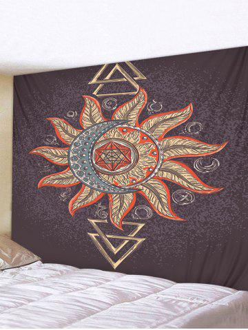 Totem Sun And Moon Pattern Waterproof Tapestry