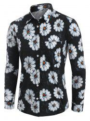 Daisy Print Long Sleeve Shirt -