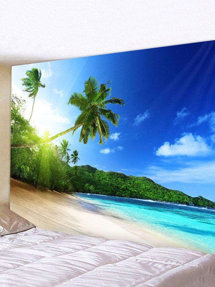 Trendy Seaside Landscape Print Wrinkle-Free Wall Tapestry