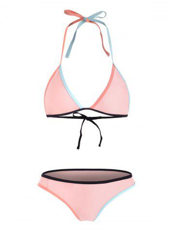 Colored Bralette Bikini Beachwear