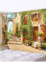 European Street Print Waterproof Decorative Tapestry -