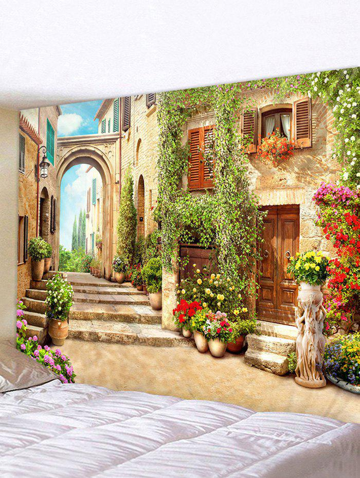 Discount European Street Print Waterproof Decorative Tapestry