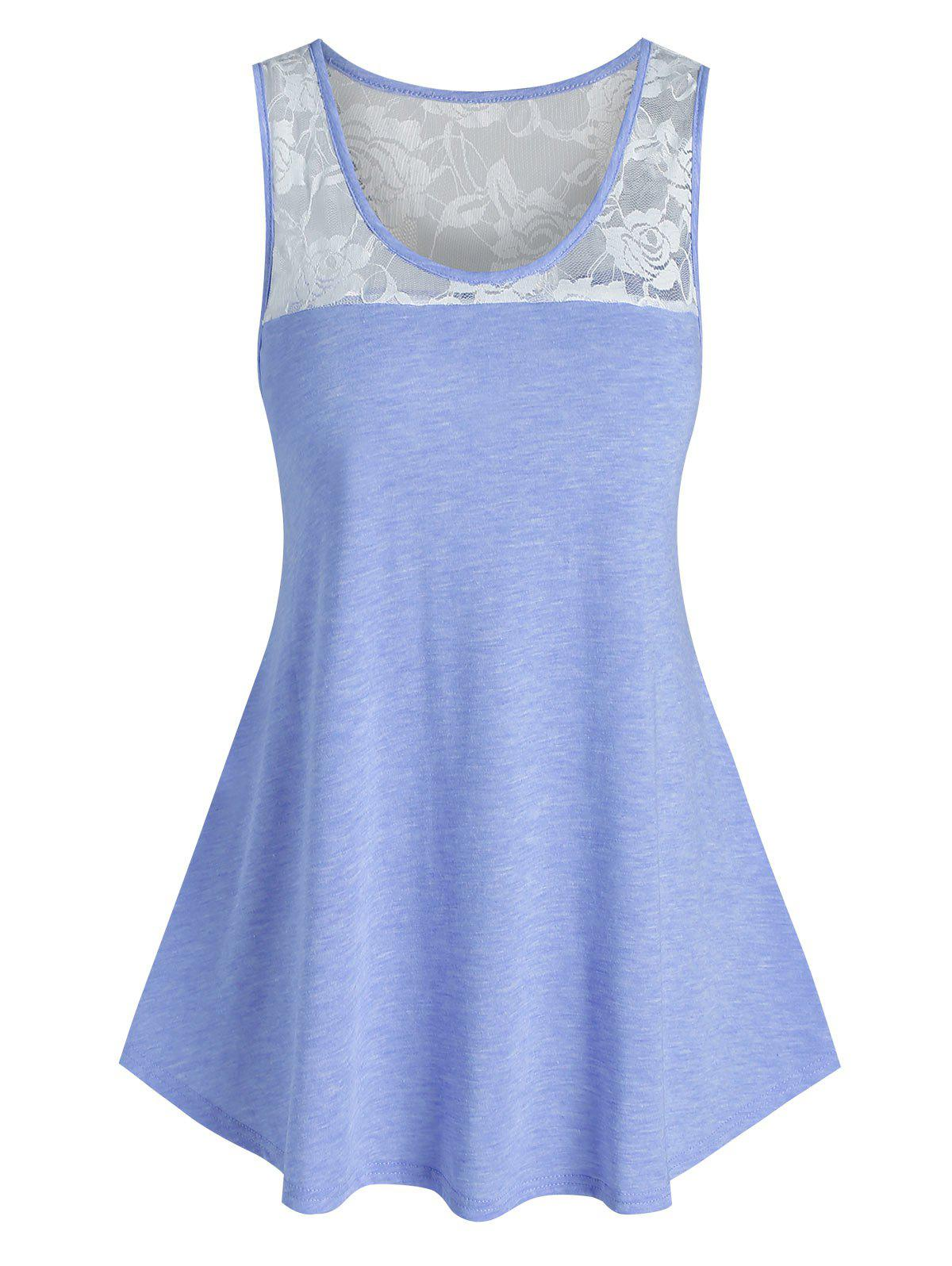 Shop Basic Lace Insert Swing Tank Top