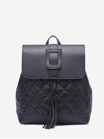 Quilted Cover Drawstring PU Backpack