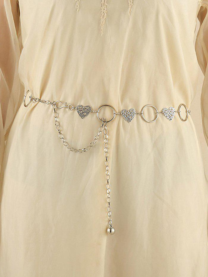 Chic Hollow Out Floral Heart Shape Waist Chain