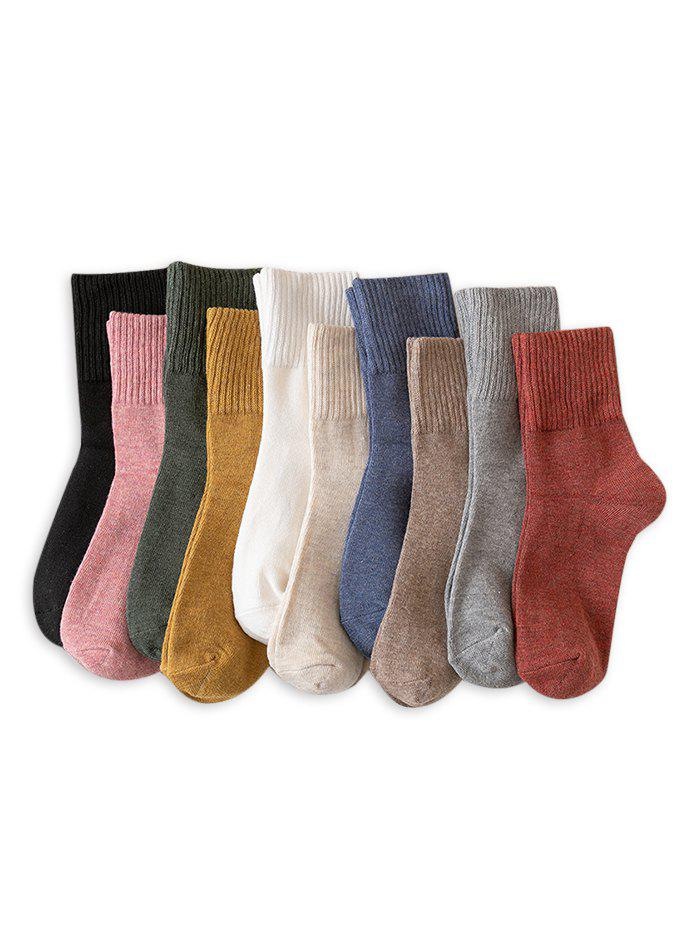 Outfit Solid Mid-calf Length Socks