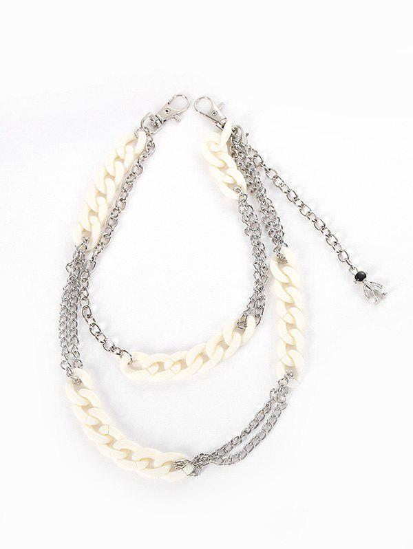Cheap Punk Acrylic Metal Layered Pendant Trousers Chain