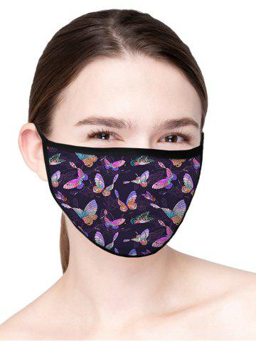 Butterfly Printed Air Layer Fabric Face Mask