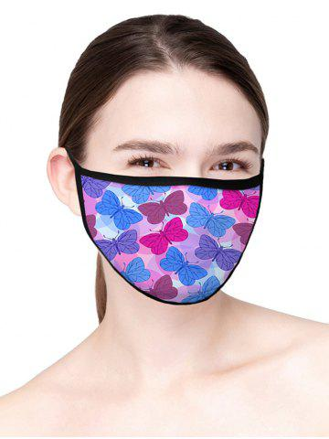Printed Butterfly Air Layer Fabric Face Mask